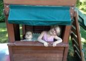 Kids in their new garden.