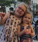 Ice cream = rare moment of sisterly love.