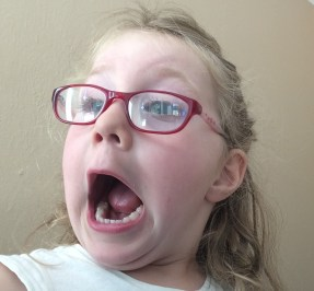 September was the month that Ava learned how to take a selfie. I have about 300 of these on my iPad.