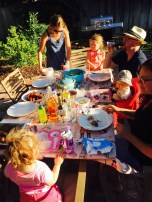 Labor Day BBQ with the Waylands. Followed by some meat baby visitors.