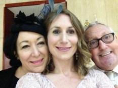 24 hours in Israel. Alex and parents, pre-wedding selfie.