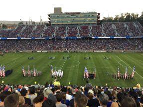 San Jose Earthquakes vs LA Galaxy. California Classico, Stanford Stadium.
