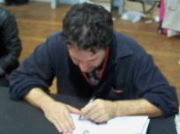 Guy Delisle mentre mi disegna il fumetto