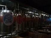 Le birre a fermentare dietro il vetro della Arbor Brewing Company