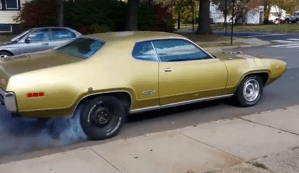 Plymouth with old gas