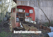 Almost nothing left of this 1954 American LeFrance except for the cab