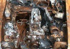1957 Mercedes 190SL burned up and for sale on Craigslist Burned Engine