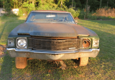 1971 Chevelle Center Console AC barn Find front end shot