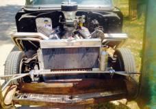 Flip front end of 1957 Chevy Craigslist Drag Race Car