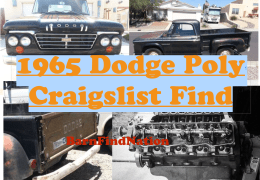 1965 Dodge Poly Craigslist Find