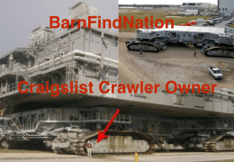 Craigslist Space Shuttle Crawler