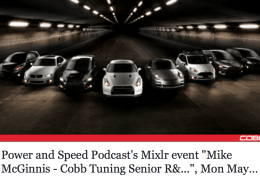 Mike McGinnis of COBB Tuning