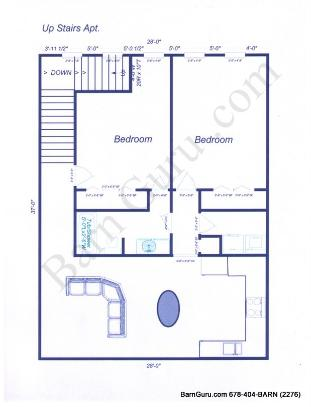 Horse Barns With Living Quarters Floor Plans
