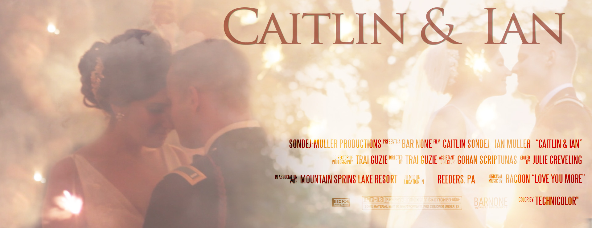 Thumbnail Movie Poster - Mountain Springs Lake Feature Wedding Film - Caitlin & Ian