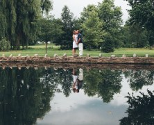 Sarah and Andrew Engagement Photography at Rose Garden