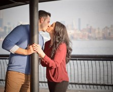 Kathy and Lenny in Hoboken, NJ for Engagement Photography