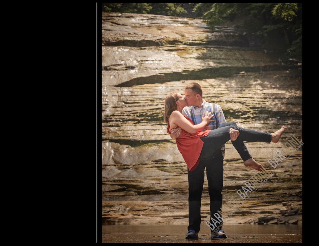 Buttermilk Falls Engagement Photography - Bar None Photography 1914
