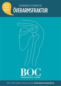 överarmsfraktur barnortopedi barnfraktur gips bryta överarmen BOC barnortopediskt centrum behandling eftervård
