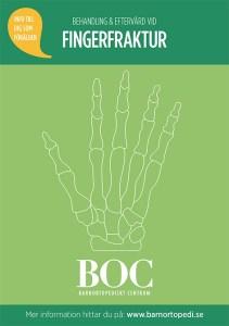 fingerfraktur barn barnfraktur barnortopediskt centrum behandling gips eftervård