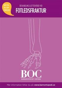 fotledsfraktur bryta foten gips fraktur behandling eftervård BOC barnortopedi