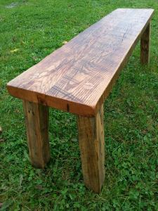 Reclaimed Barn Wood Farmhouse Bench / Entryway Bench / Hardwood Rustic Bench Old Growth Timber Wood Bench / Rustic Wooden Bench Dining Bench