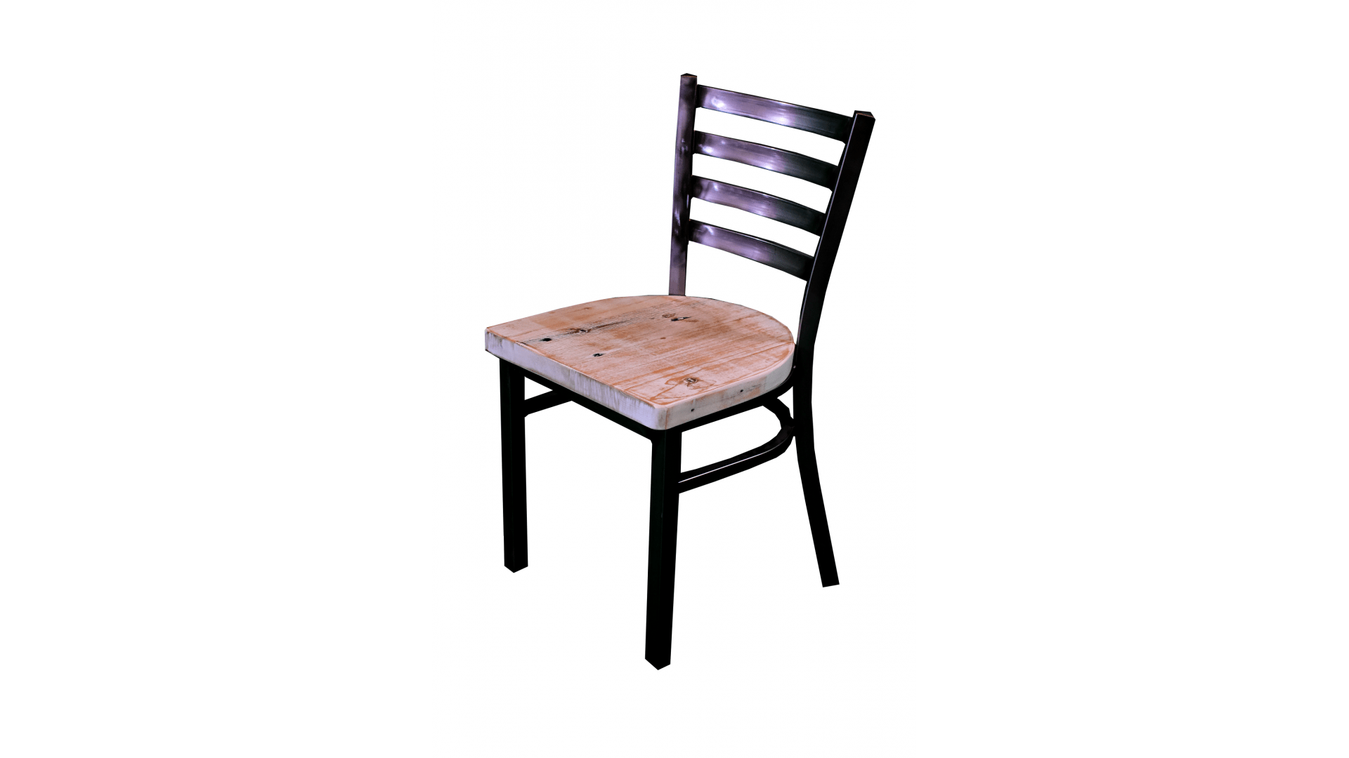 30 Inch Black Ladder Chair Reclaimed Dining Chair Flat