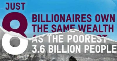 8 People own half of the world wealth
