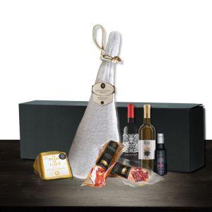 compra cesta regalo gourmet jamon iberico de cebo