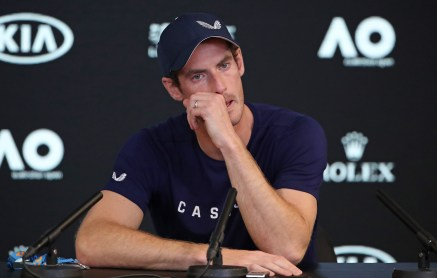 MELBOURNE, AUSTRALIA - JANUARY 11: Andy Murray of Great Britain speaks during a press conference ahead of the 2019 Australian Open at Melbourne Park on January 11, 2019 in Melbourne, Australia. (Photo by Scott Barbour/Getty Images)