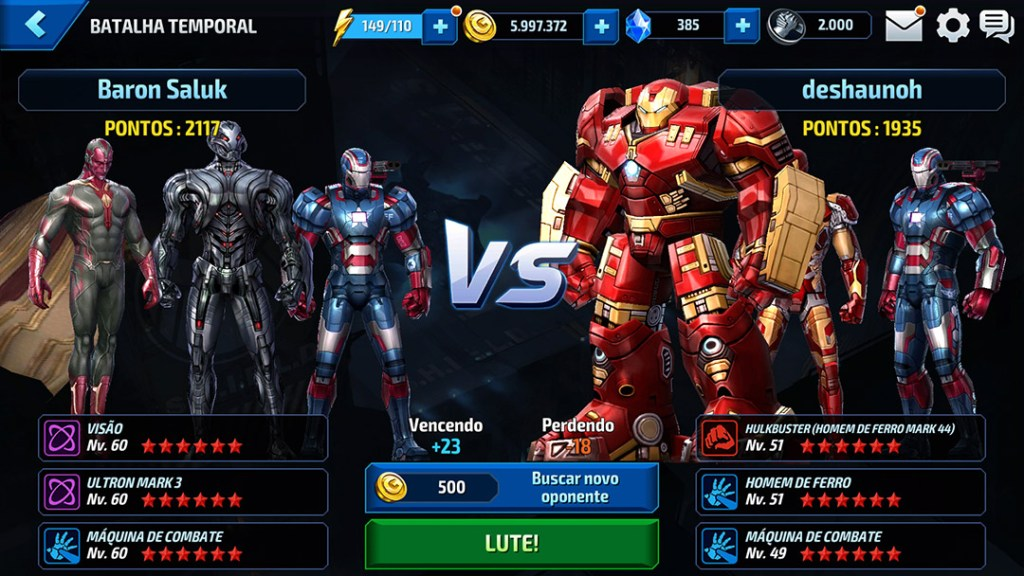 Nova Batalha Temporal Marvel Future Fight