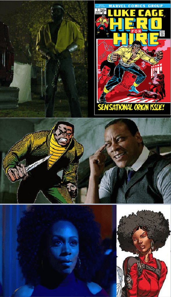 Personagens x HQs Luke Cage