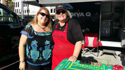 Diva Q, Danielle Dimovski. Host of Travel Channel's BBQ Crawl and winning pitmaster