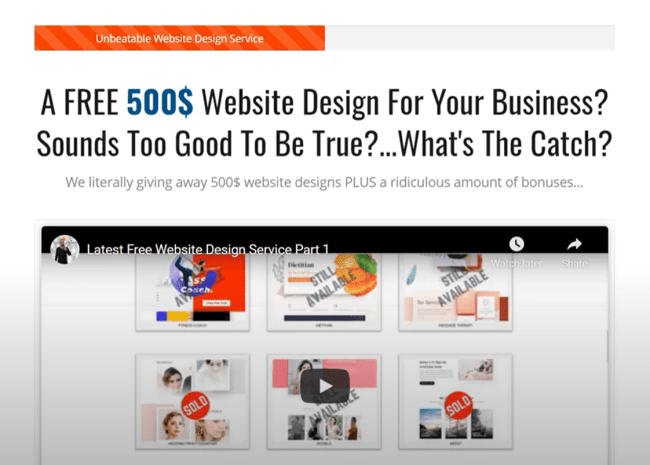 LIMITED OFFER: Free 500$ Website Design For Your Business PLUS Business Growth Focused Bonuses