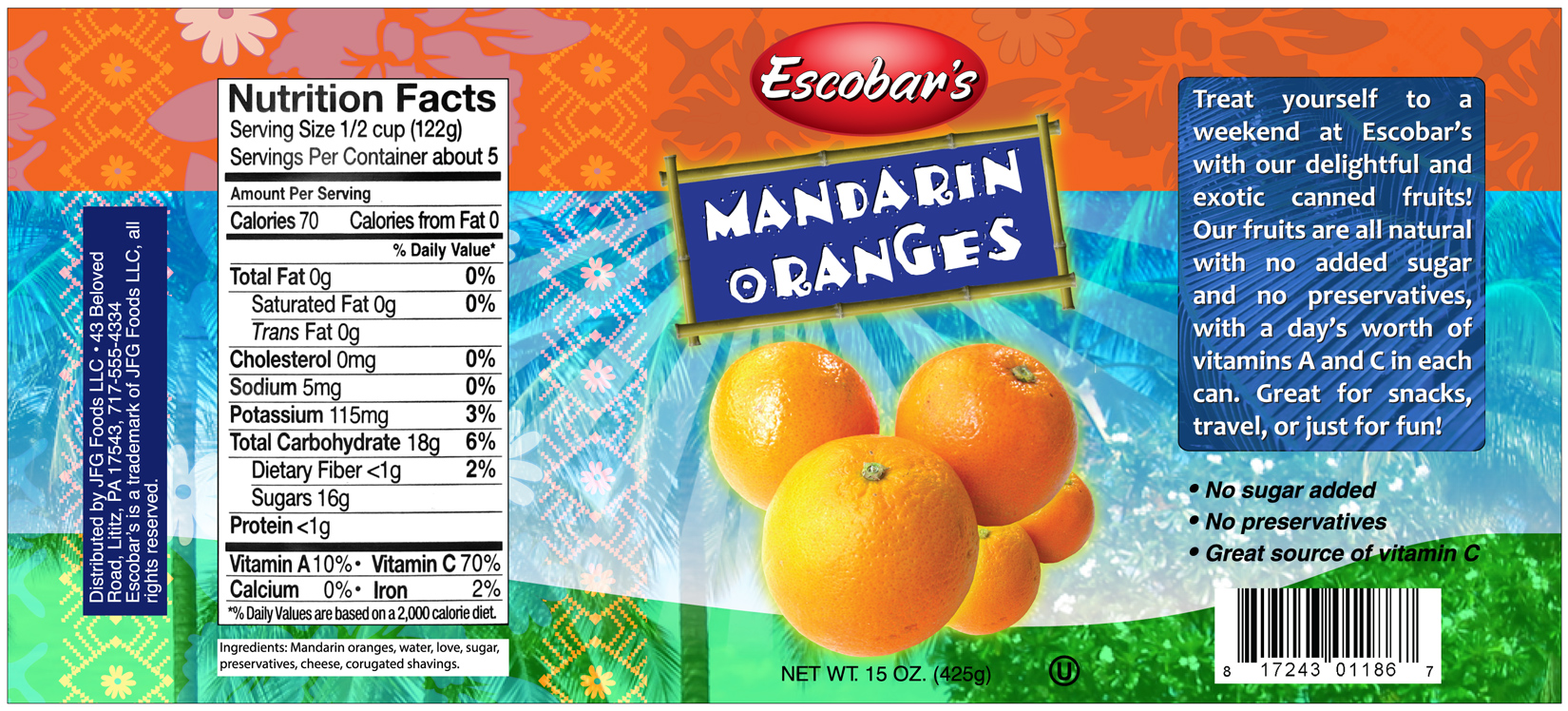Fruit Can Labels