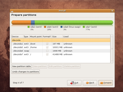 How Final Partition Screen Look Like