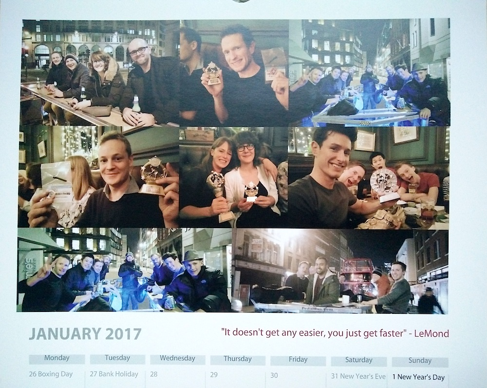 Baroudeurs Calendar 2017 January