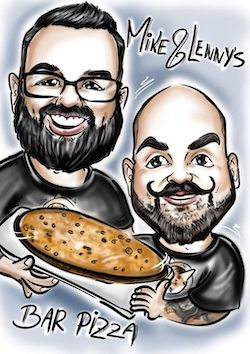 mike and lenny bar pizza airbrush