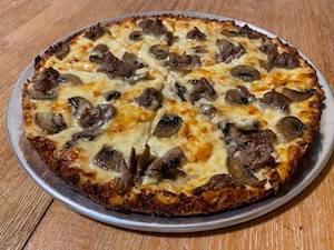 mike lenny bar pizza steak mushroom