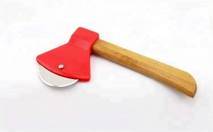 wooden axe pizza cutter barpizza wheel cutter
