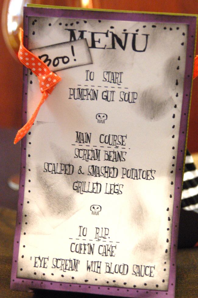 ghoul's night halloween menu