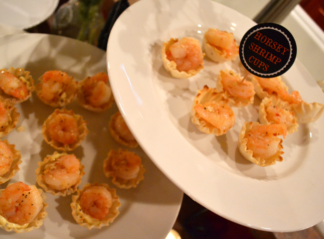 horsey shrimp cups appetizer