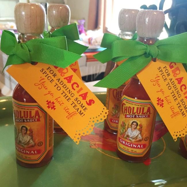 hot sauce party favors