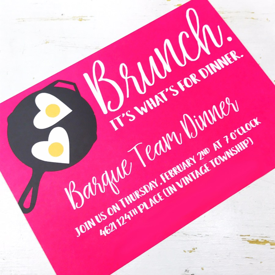 brunch invite