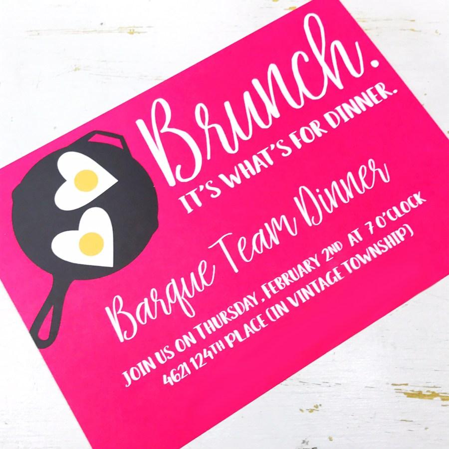 brunch invite