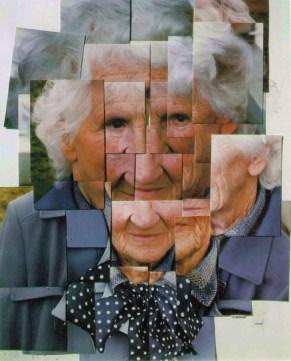 "David Hockney, ""my Mother"" Polaroid composition photo collage (1982)."
