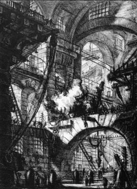 G.B. Piranesi. La prisión de la hoguera.