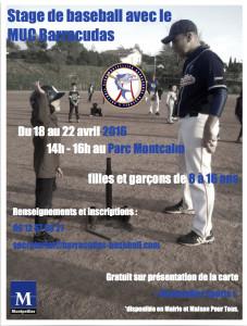 Flyer stage baseball Montpellier 2016