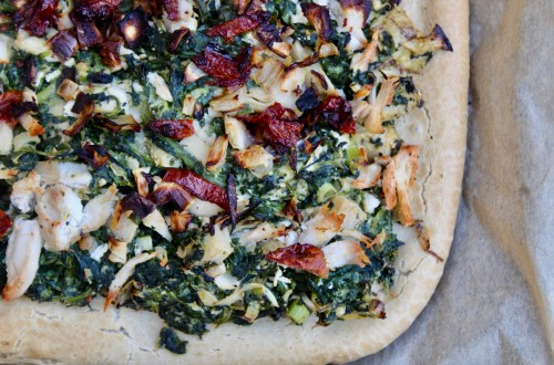 Celebrating Milestones - Paleo Spinach and Artichoke Pizza