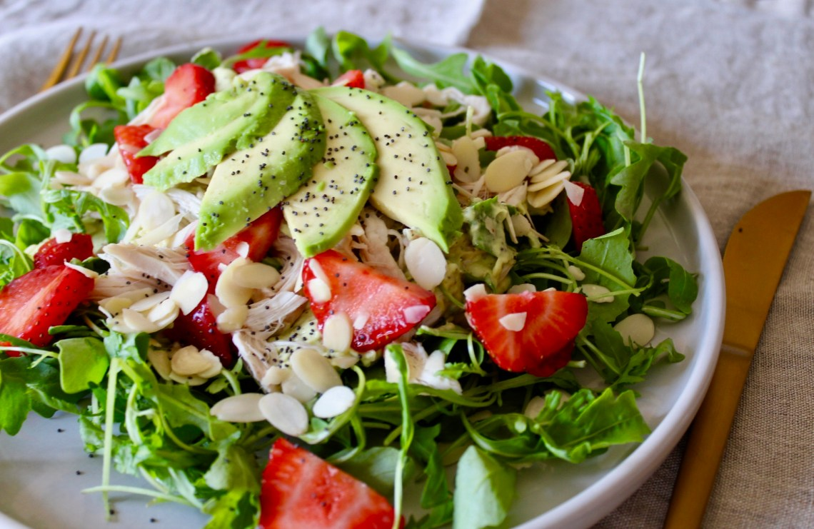 when it's worth it - Whole30 Chicken Salad with Avocado Poppy Seed Dressing