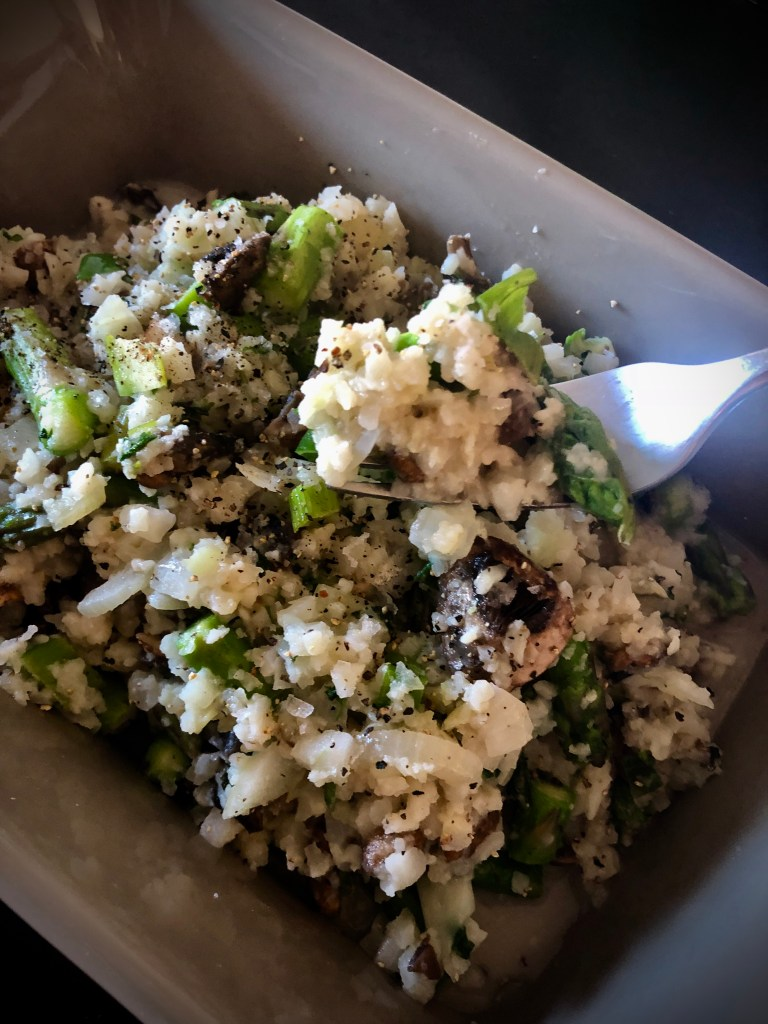 joy - whole30 mushroom asparagus cauliflower risotto